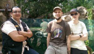 New caiman pool at La Aurora Zoo