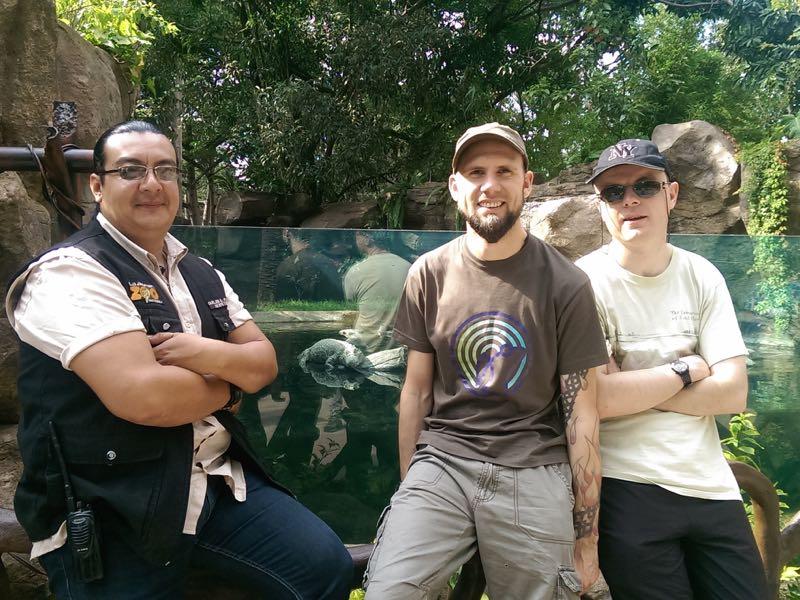 new caiman pool at La Aurora Zoo Guatemala